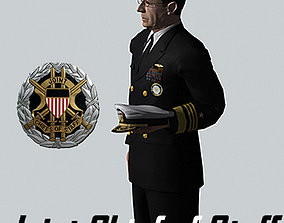 3D model rigged Joint Chief of Staff