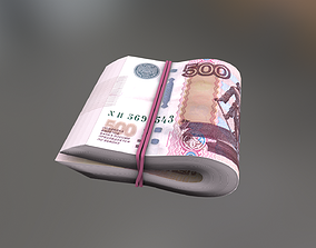 Bundle of Rubles 500 3D model VR / AR ready