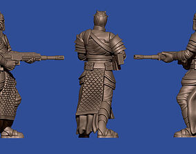 28mm squad of sci-fi Arab soldiers 3D printable model