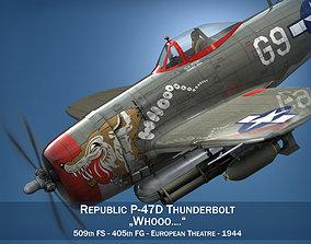 3D model Republic P-47D Thunderbolt - Whoo