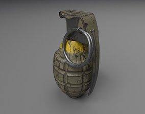 3D asset MK2 Grenade - UE4 ready - Low poly - 4k PBR