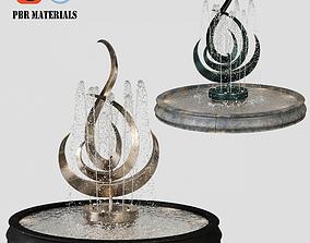 Exterior fountain PBR 3D model