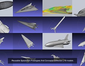 Reusable Spacecraft Prototypes And Concepts 3D model