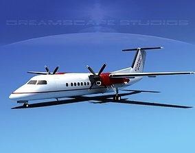 3D DeHavilland DHC-8-Q300 Cargo 2 Go