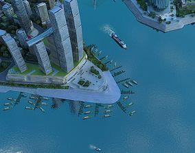 3D model Chongqing Aerial View