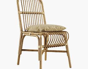 Valerie vintage rattan chair 3D model