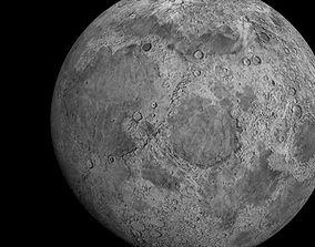 Moon - Satellite 3D model VR / AR ready