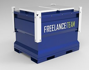 container IBC Tank 1000lit 3D model