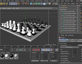 Chess gameplan 3D model