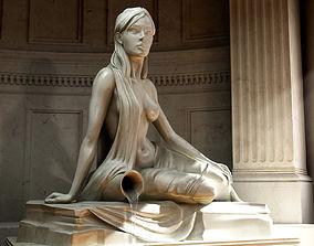 3D model Statue Sculpture Girl with a jug
