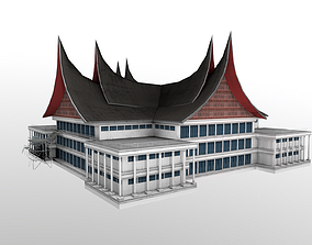 3D asset DPRD Padang office building