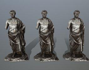 3D model low-poly statue 5