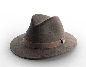 Traveller Maroon Hat 3D model