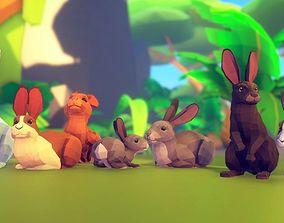 3D asset Poly Art Rabbits