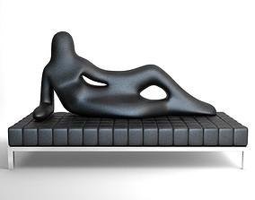 3D model Settee Divina Driade