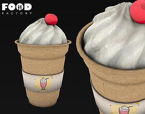 3D asset Milkshake mesh