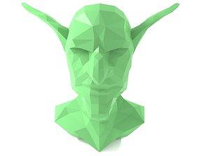 Goblin Head - Triangulated Polygon 3D print model