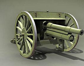 Putilov 76 2mm Field Gun Russia 1902 3D