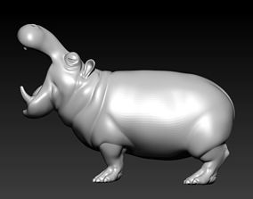 3D print model hippo figurines