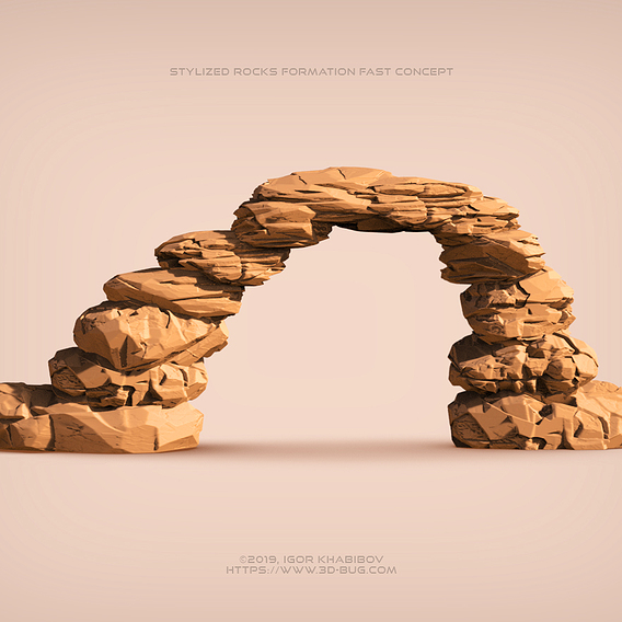 Stylized rocks formation