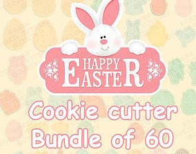 Easter cookie cutter bundle of 60 3D print model