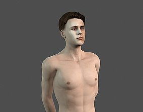 Beautiful man -Rigged 3d character rigged realtime