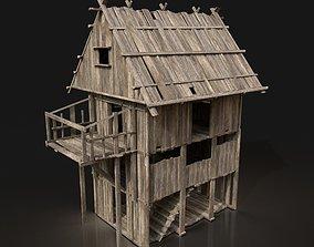 Next Gen AAA Wooden Settlement Scouttower 3D asset 1