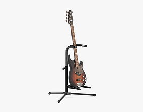 Yamaha Basses Guitar BB734A with Stands 3D model