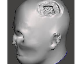 3D asset Zombie head