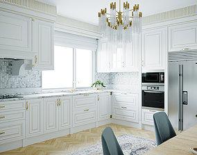 Decorative Kitchen Room Scene 3D model