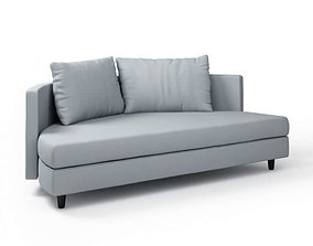 3D Rounded Two Pillow Couch