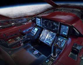 3D asset Sci Fi Light Fighter Cockpit