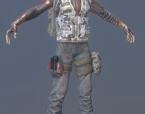 Rigged Mercenary B 3D model