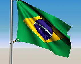 Animated Brazil Flag 3D