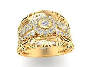 508 Diamond Ring for women 3D printable model
