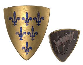 3D Triangular Knight Shield