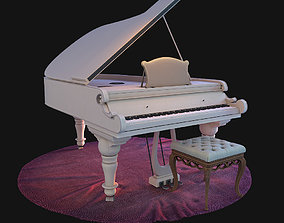 3D model piano on the carpet