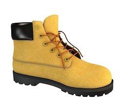 3D model Camel Boots Unisex Footwear