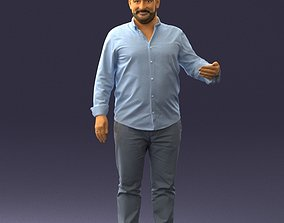 Man in blue shirt 0368 3D Print Ready