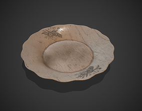 3D asset Dirty Crack Porcelain Plate