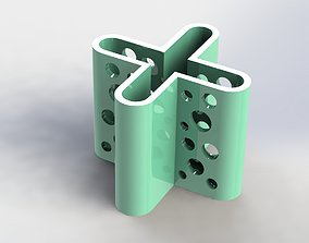 X Pen Holder Moon 3D print model