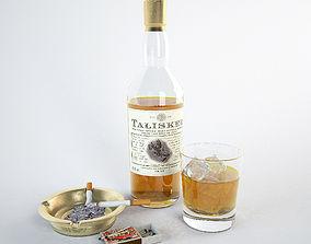 Talisker whiskey cigarette ice decor 3D