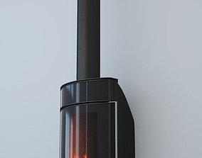 3D model wood stove P