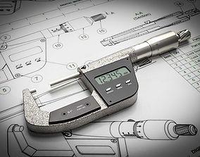 3D model Digital Micrometer