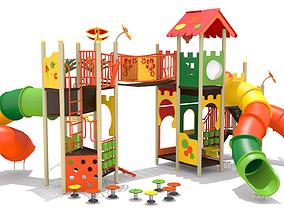 Double Decker Playground 3D asset