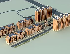 Architecture downtown 3D model