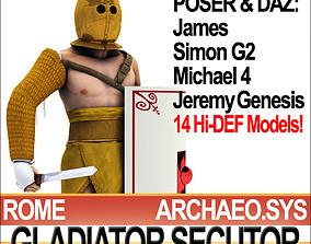 Roman Gladiator Secutor Props Poser Daz 3D model