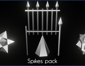 Spikes pack 3D model