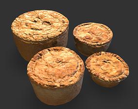 3D asset Medieval Meat Pies