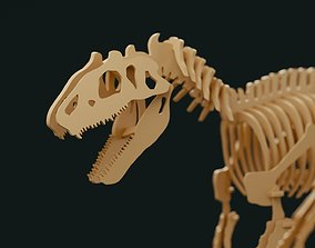 Tyrannosaurus wooden toy 3D model